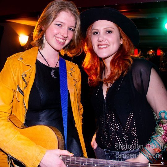 Rachel Laven and Grace Pettis at the Green Note, Camden, London. Photo: Jon Himoff