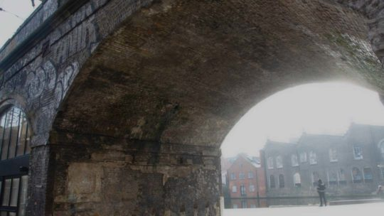 new area open under the arches part of Hawley Wharf