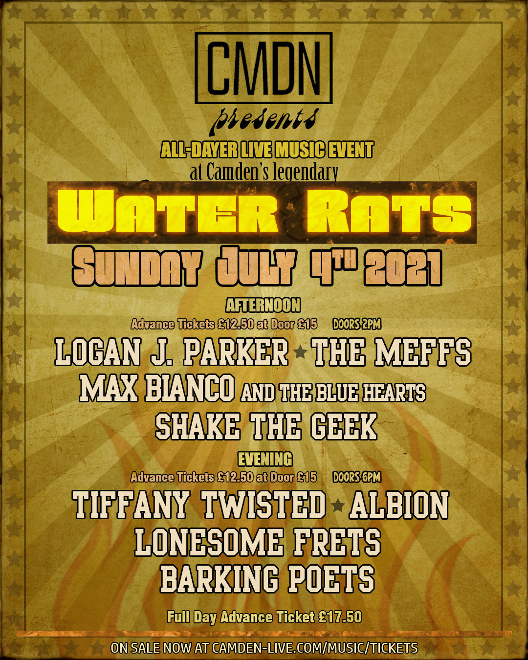 Water Rats - July 4 2021 - All-Dayer