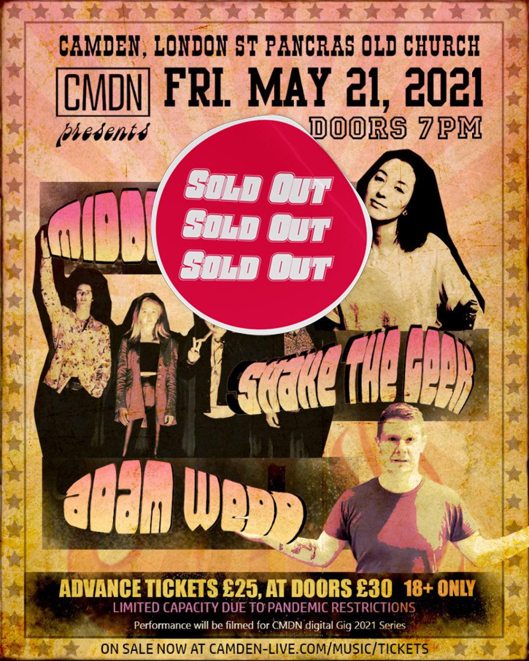 Shake the Geek - Midori Jaeger - Adam Wedd Play Live May 21